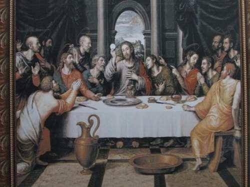 Azulejo Com Imagem Representando Santa Ceia 1