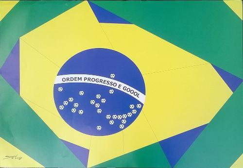 Bandeira Do Brasil Estilizada