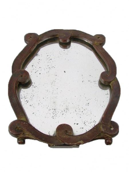 Espelho De Mesa Em Madeira Com Resquícios