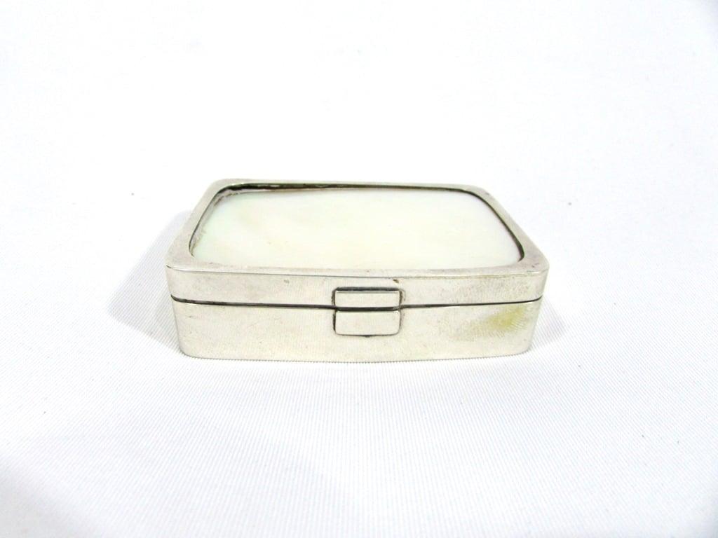 Pequena Caixa De Prata De Lei